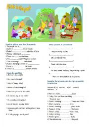 English Worksheet: PICNIC IN THE PARK