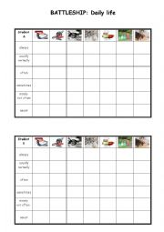 English Worksheet: Battleship - daily life