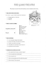 English Worksheet: The globe and Elizabethan theatre