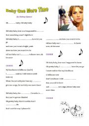English Worksheet: Baby one more time (Britney Spears)