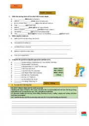 English Worksheet: English test-6th grade-Part 2