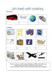 Travel: useful vocabulary