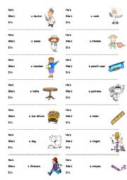 English Worksheet: He or She or It?