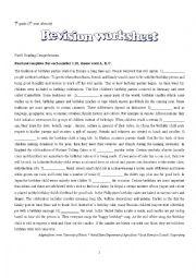 English Worksheet: revision worksheet 2
