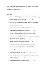 English Worksheet: KING ARTHUR by Janet Hardu-Gould Activities