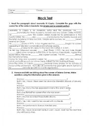 english worksheets mock test 6th grade mixed tenses simple past and present perfect. Black Bedroom Furniture Sets. Home Design Ideas