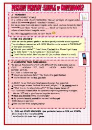 English Worksheet: present perfect simple or continuous :lesson