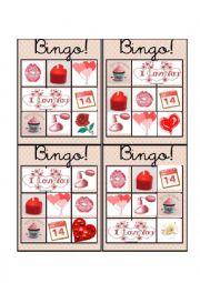 English Worksheet: Valentine´s Day Bingo 4