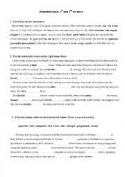 English Worksheet: Remedial Work for 1st and second Formers