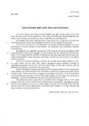 English Worksheet:  Mandela