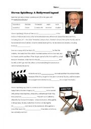 English Worksheet: Steven Spielberg: A Hollywood legend