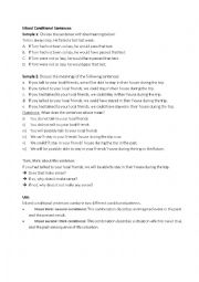 English Worksheet: Mixed Conditionals - Grammar Structure Brainstorming