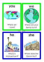 English Worksheet: Pronoun Flashcards: 13-24 of 70