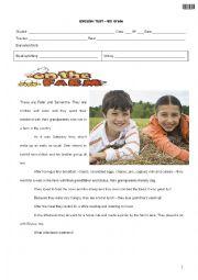 English Worksheet: Worksheet-Grade 6