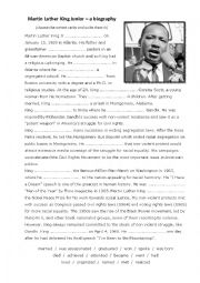 English Exercises: Martin Luther King Jr / Past Simple