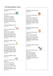 English Worksheet: Old Mac Donald had a Farm song
