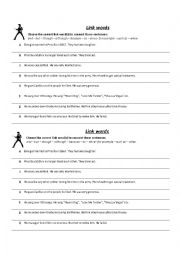 English Worksheet: link words exercise - elvis presley´s life