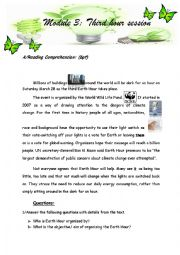 English Worksheet: saving energy