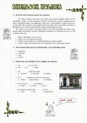 English Worksheet: Sherlock Holmes - part 1