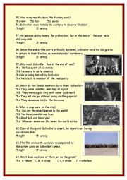 English Worksheet: Schindler�s list :part 3