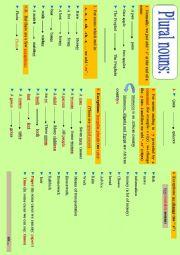 English Worksheet: Grammar point: Plural nouns : Spelling Rules -s, -es, -ies, irregular plurals