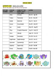 Horoscopes, Zodiac Signs, Palm Reading (personality traits, modals) 4 pages