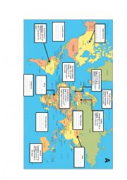 English Worksheet: Parts of th world