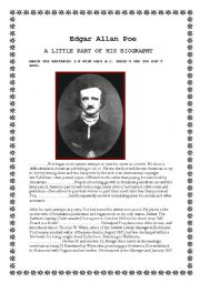 EDGAR ALLAN POE, PART OF HIS BIOGRAPHY.