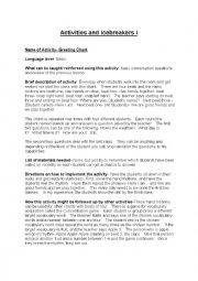 English Worksheet: activities and ice breakers