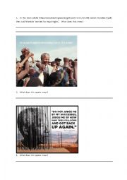 English Worksheet: Nelson Mandela Quotes worksheet