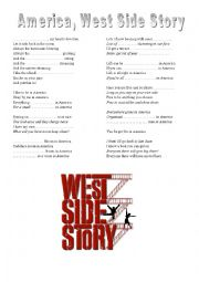 english worksheets west side story america. Black Bedroom Furniture Sets. Home Design Ideas
