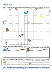 English Worksheet: What have you got in your pencil-case?
