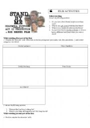 English Worksheet: Stand By Me - Film Activities