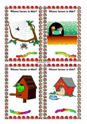 English Worksheet: Animal Homes Flashcards 1-8 of 16
