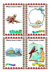 English Worksheet: Animal Homes Flashcards 9-16 of 16