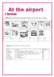 English Worksheet: At the airport (9th form)
