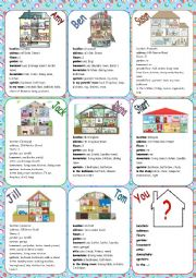 Houses Speaking Cards