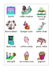 English Worksheet: Amusement park words