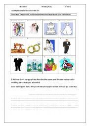 English Worksheet: wedding party