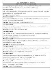 English Worksheet: Pearson Test of English General Level 4 SPEAKING Section 13