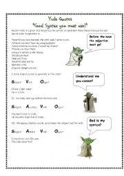 English Worksheet: Yoda Quotes