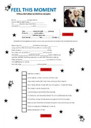 English Worksheet: Feel this moment Pitbull Featuring & Christina Aguilera