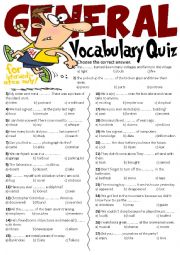 General Vocabulary Quiz