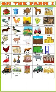 English Worksheet: Farm :pictionary