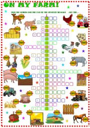 English Worksheet: Farm : Crossword puzzle