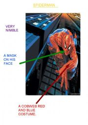 English Worksheet: Spiderman a superhero