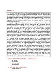 English Worksheet: toefl texts
