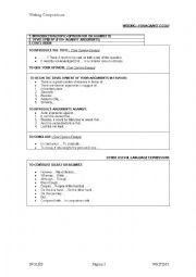 English Worksheet: Writing a For/Against composition