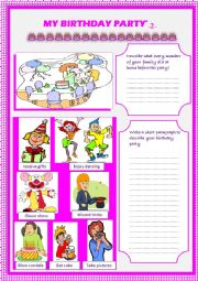 English Worksheet: my birthday party (part2)