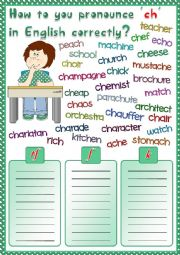 English Worksheet: How to pronounce